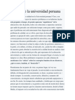 Calidad de La Universidad Peruana