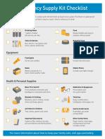 Be Prepared Emergency Checklist