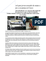 Disponen Cárcel Para Joven Acusado de Matar a Golpes a Su Pareja en Cusco