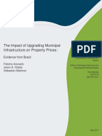 The Impact of Upgrading Municipal Infrastructure on Property Prices Evidence From Brazil