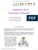 Manual Educacion Medio Ambiente.fundamentos de La Educación Ambiental