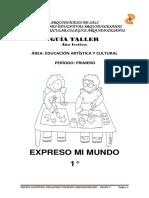 ARTISTICA GRADO 1°- I, II Y III PERIODO