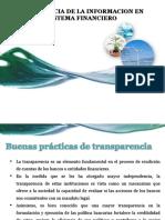 Transparencia de La Informacion en El Sistema Financiero