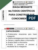 Cartel de Desempeños Area de Ciencia y Ambiente
