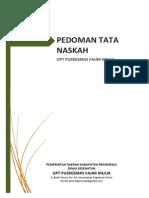 Pedoman Tata Naskah UPT Puskesmas Fajr Mulia