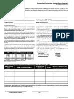 Transaction Conversion Form