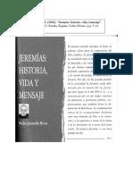 JARAMILLO P, JEREMÍAS HISTORIA, VIDA Y MENSAJE