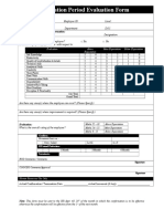 Probation Period Evaluation Form
