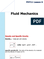 PHY11 Lesson 6 Fluids