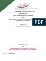 """""""Principios Éticos, Básicos de Auditoria, Organización y Funciones de Los Auditores"""""""