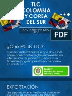 Tlc Colombia y Corea Del Sur