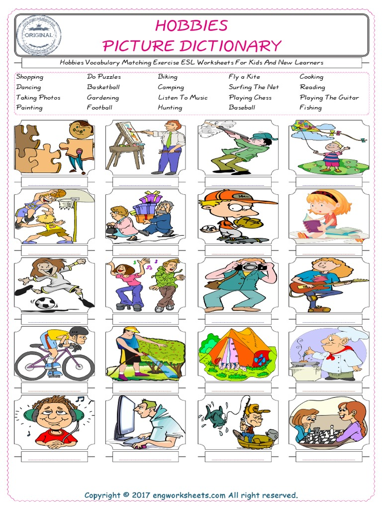 Exercises for esl vocabulary Interactive English