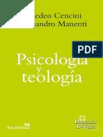 Psicologia y Teologia Amedeo Cencini Alessandro Manenti