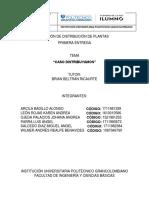 Distribución de Plantas Primera Entrega