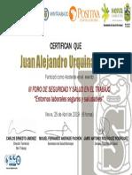 3°Foro SST-Entornos Laborales Saludables -JUAN ALEJANDRO URQUINA TOVAR