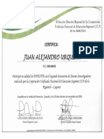 Certificado Ponencia CUN Regional Caquetá - Por JUAN ALEJANDRO URQUINA TOVAR Uniminuto Florencia 2018