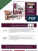 El Hecho Jurídico Voluntario, Supuestos y Hechos