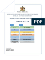 ict teacher prof dev prog course outline  april 2019