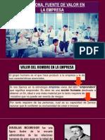 La Persona, Fuente de Valor en La Empresa