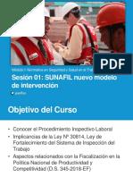 Sesión 1 SUNAFIL - Nuevo Modelo de Intervención