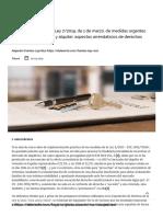 El nuevo Real Decreto Ley 7_2019, de 1 de marzo, de medidas urgentes en materia de vivienda y alquiler_ aspectos arrendaticios de derechos sustantivo y procesal - El Derecho