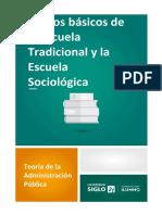 Rasgos Básicos de La Escuela Tradicional y Escuela Sociológica