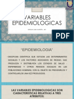 Variables epidemiologicas