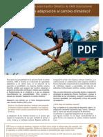 ¿Qué es adaptación al cambio climático? Por CARE Internacional
