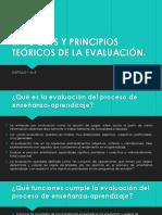 ENFOQUES Y PRINCIPIOS TEÓRICOS DE LA EVALUACIÓN