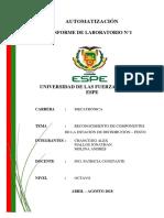 Informe Reconocimiento Estacion de Distribucion