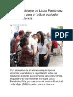 Impulsa gobierno de Laura Fernández programas para erradicar cualquier tipo de violencia