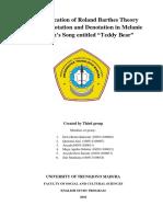 Paper of Semiotics Connotation - Teddy Bear by Melanie