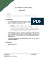 ~$ller  Requisitos de norma ISO  9001. identificacion y analisis y requisitos