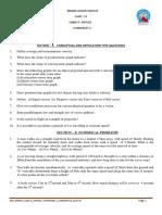 Class Xi Physics Kinematics Worksheet 2 2019-20