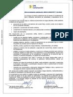 Política de Prevención de Riesgos Laborales, Medio Ambiente y Calidad Septiembre 2014