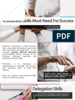 6 Business Skills Must Need for Success