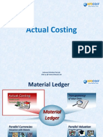 Actual Costing Material Ledger PDF Sap Standard Cost Production Variances