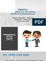 Agency - Obligations and Extinguishment