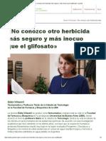 Entrevista a Edda Villaamil Glifosato
