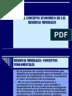 El Concepto Económico de Las Reservas Minerales