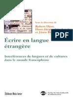 écrire en langue étrangère