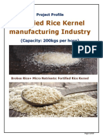 Project Profile-Fortified Rice Kernel Industry