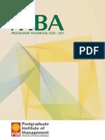 Handbook Mba 2020