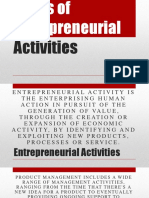 Types of Entrepreneural Activities