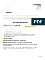 Health Safety Policy Template