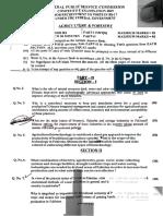 Agriculture Question paper (FPSC) 2019
