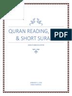 Quran Curriculum Short Surah Dua JKG