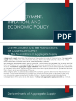 Unemployment, Inflation, And Economic Policy