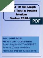 BITSAT 2019 Practice Tests & Detailed Solutions.pdf