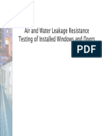 Water Resistance Testing of Windows and Doors